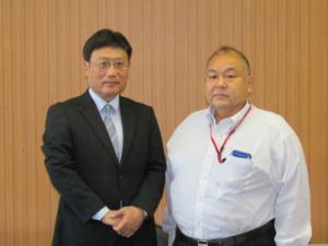 堺市西区長が本学を表敬訪問しました